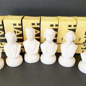Other - Set Of (6) Halbe Music Composer Statuettes 31/2""